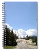 Clouds Over Thermal Area Spiral Notebook