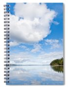 Clouds Reflected In Puget Sound Spiral Notebook