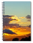 Clouds With Colors Spiral Notebook