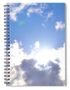 Clouds With Sunshine Spiral Notebook