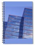 Cloudscape In Reverse Spiral Notebook