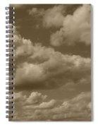 Cloudscape In Sepia Spiral Notebook