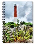 Cloudy At Barnegat Light Spiral Notebook