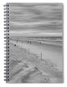 Cloudy Beach Morning Spiral Notebook