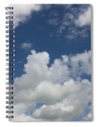 Cloudy Blue Sky Spiral Notebook