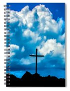 Cloudy Cross Spiral Notebook