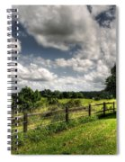 Cloudy Day In The Country Spiral Notebook