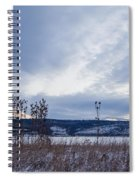 Cloudy Daybreak Dry Thistles Spiral Notebook