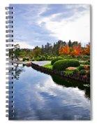 Cloudy Garden Reflections Spiral Notebook