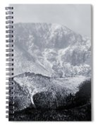 Cloudy Misty Pikes Peak Spiral Notebook