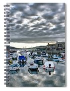 Cloudy Morning - Lyme Regis Harbour Spiral Notebook