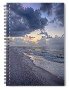 Cloudy Sunrise Over Orange Beach Spiral Notebook