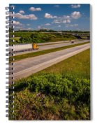 Clover Leaf Exit Ramps On Highway Near City Spiral Notebook