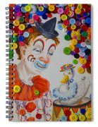 Clown And Duck With Buttons Spiral Notebook