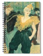 Clowness Cha-u-kao At Moulin Rouge Spiral Notebook