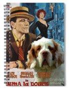 Clumber Spaniel Art - Irma La Douce Movie Poster Spiral Notebook