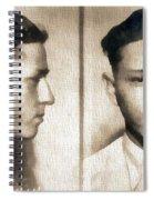 Clyde Barrow Mug Shot Spiral Notebook