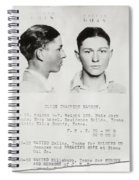 Clyde Champion Barrow Mugshot - Dallas Texas  Spiral Notebook