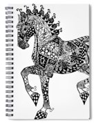 Clydesdale Foal - Zentangle Spiral Notebook