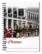 Clydesdale  Team Christmas Card Spiral Notebook