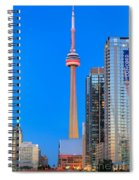 Cn Tower By Night Spiral Notebook
