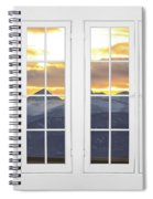 Co Mountain Gold View Out An Old White Double 16 Pane White Window Spiral Notebook