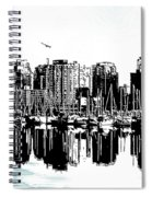 Vancouver Canada Coal Harbour Centre Panel Spiral Notebook