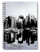 Vancouver  Canada Coal Harbour Triptych Left Panel Spiral Notebook