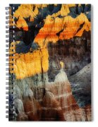 Coal Mine Canyon Aglow Spiral Notebook