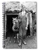 Coal Miner & Mule 1940 Spiral Notebook