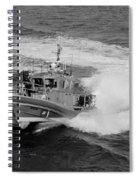 Coast Gaurd In Action In Black And White Spiral Notebook
