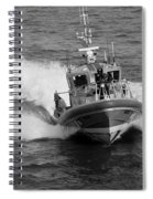 Coast Guard In Black And White Spiral Notebook