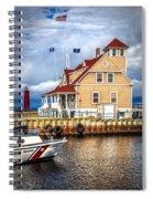Coast Guard Station On Muskegon Lake Spiral Notebook