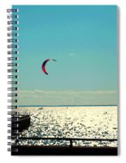 Coast To Coast Sea To Sky Flies Curiosity Crescent Kite Night Scenes On The Canal Carole Spandau Spiral Notebook
