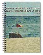 Coastal Beach - E.e. Cummings Sea Quote Spiral Notebook