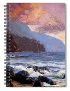 Coastal Cliffs Beckoning Spiral Notebook