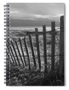 Coastal Dunes In Black And White Spiral Notebook