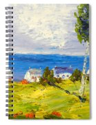 Coastal Fishing Village Spiral Notebook