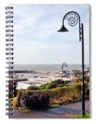 Coastal Overview At Lyme Regis Spiral Notebook