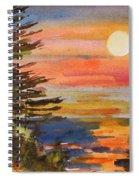 Coastal Sunset Spiral Notebook