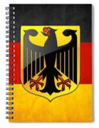Coat Of Arms And Flag Of Germany Spiral Notebook