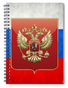 Coat Of Arms And Flag Of Russia Spiral Notebook
