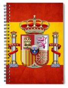 Coat Of Arms And Flag Of Spain Spiral Notebook