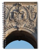 Coat Of Arms Of Portugal On Rua Augusta Arch In Lisbon Spiral Notebook