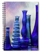 Cobalt Blue Bottles Spiral Notebook