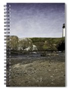Cobble Beach At Yaquina Lighthouse Spiral Notebook