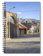 Cobblestone Street In Coporaque Spiral Notebook