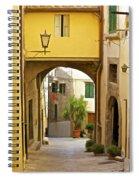 Cobblestone Street Of Tuscany Spiral Notebook