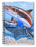 Cobia On Rays Spiral Notebook