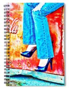 Coca-cola And Stiletto Heels Spiral Notebook